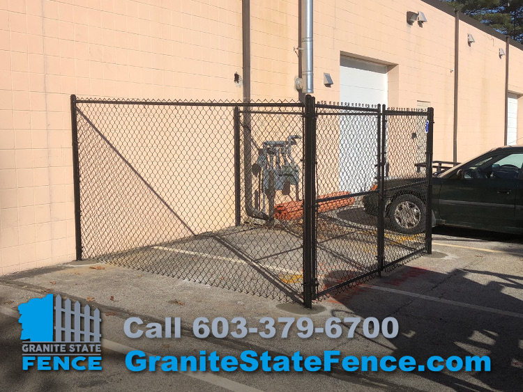 Chain Link Dumpster Enclosure/Chain Link Fencing/Chain Link Storage Area In  Nashua, NH