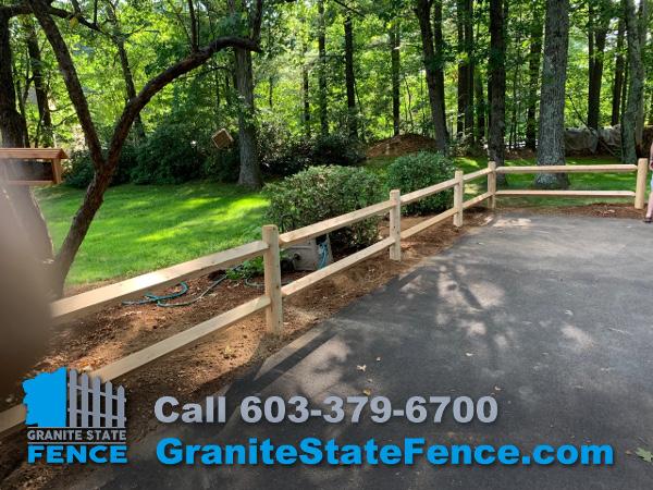 Wood Granite State Fence