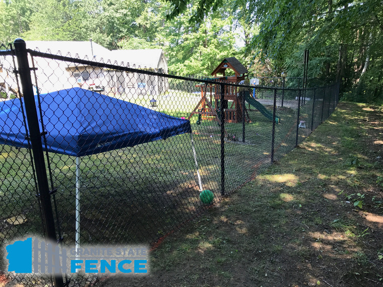 Chain Link Fence Installation In Bedford Nh Granite