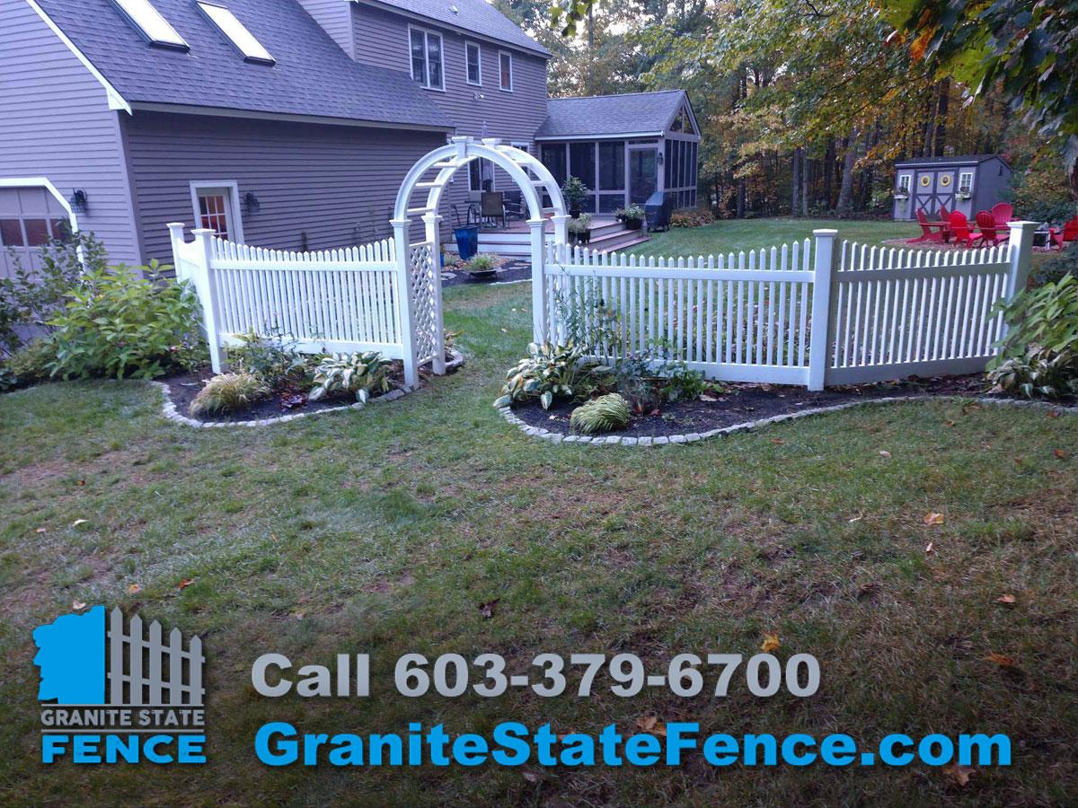 Vinyl Fence Installation Picket Fence New England